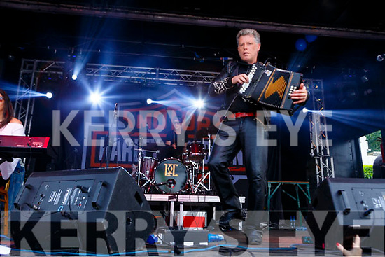 Liam O'Connor Killarney entertaining the crowds at Bike fest in Killarney on Sunday