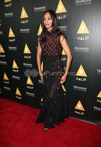 HOLLYWOOD, CA June 24- Zoe Saldana, At NALIP Latino Media Awards at The Ray Dolby Ballroom at Hollywood & Highland Center, California on June 24, 2017. Credit: Faye Sadou/MediaPunch