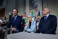 Roma, 4 Aprile 2018<br /> Riccardo Nencini, Emma Bonino, Pietro Grasso.<br /> Primo giorno di Consultazioni per la formazione del Governo