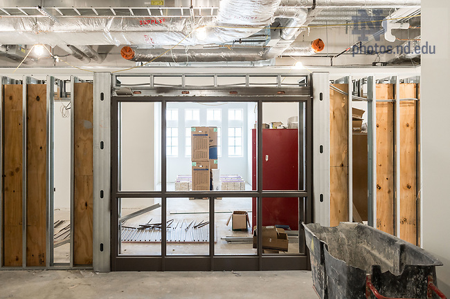 March 10, 2017; Jenkins Hall 1st Floor under construction (Photo by Matt Cashore/University of Notre Dame)