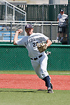 April 28, 2012:   Nevada Wolf Pack third baseman Austin Byler throws to first against the Fresno State Bulldogs during their NCAA baseball game played at Peccole Park on Saturday afternoon in Reno, Nevada.