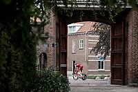 Marcel Kittel (DEU/Katusha Alpecin) on his way to his pre race recon.<br /> <br /> Binckbank Tour 2018 (UCI World Tour)<br /> Stage 2: ITT Venray (NL) 12.7km