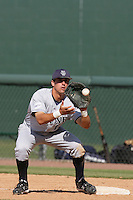 June 5, 2010: Jeff Cusick of UC Irvine during NCAA Regional game against Kent State at Jackie Robinson Stadium in Los Angeles,CA.  Photo by Larry Goren/Four Seam Images