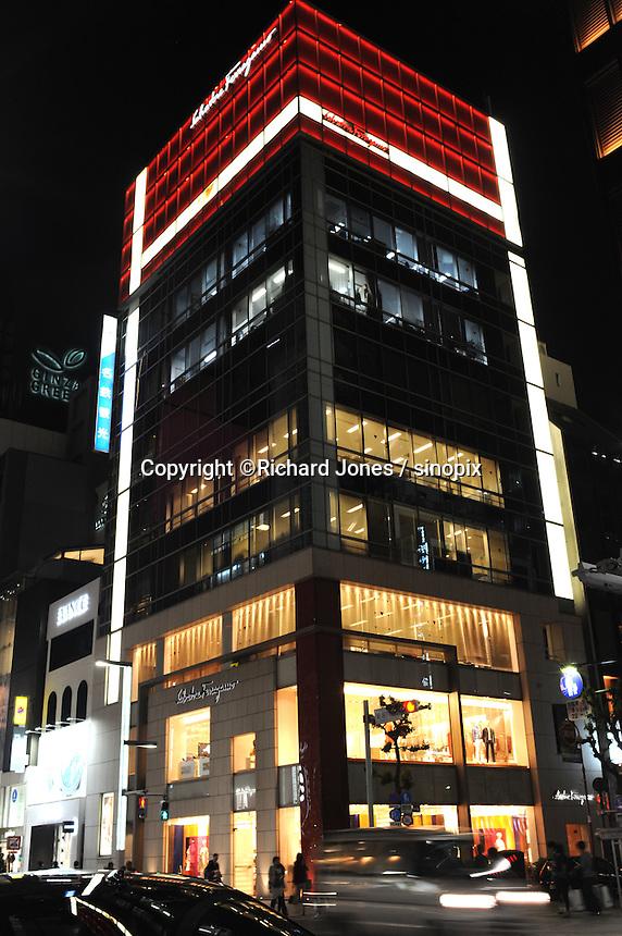 SALVADORE FERRAGAMO, ITALIAN LUXURY BRAND SHOP IN GINZA, TOKYO