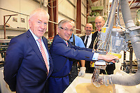 15-5-2015: Minister for Jobs, Enterprise and Innovation Richard Bruton with Minister Jimmy Deenihan, Con and Mike Stack and Piotr Tomiak  at Tricel, Killarney at the announcement that 40 new jobs are to be created in Killarney by Co Kerry by the manufacturing and engineering firm which currently employs 100 people in Killarney and 250 in total across the group in Ireland, UK and France. <br /> Picture by Don MacMonagle<br /> <br /> REPRO free Photo:<br /> Further information: Brian Purcell 0879678921