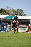 06/09/2015.  Stamford ,  England.  The Land Rover Burghley Horse Trials. Michael Jung (GER) riding LA BIOSTHETIQUE - SAM FBW  in action during the Show Jumping Phase on Day 4 of the 2015 Land Rover Burghley Horse Trials.  The Land Rover Burghley Horse Trials take place 3rd - 6th September.   Jonathan Clarke/JPC Images