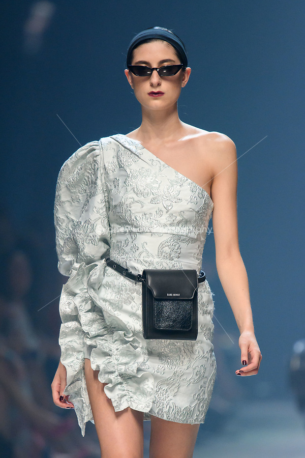 8 March 2018, Melbourne - Model showcases design by Nicola Finetti during the runway 5 show presented by InStyle magazine at the 2018 Virgin Australia Melbourne Fashion Festival in Melbourne, Australia. (Photo Sydney Low / asteriskimages.com)