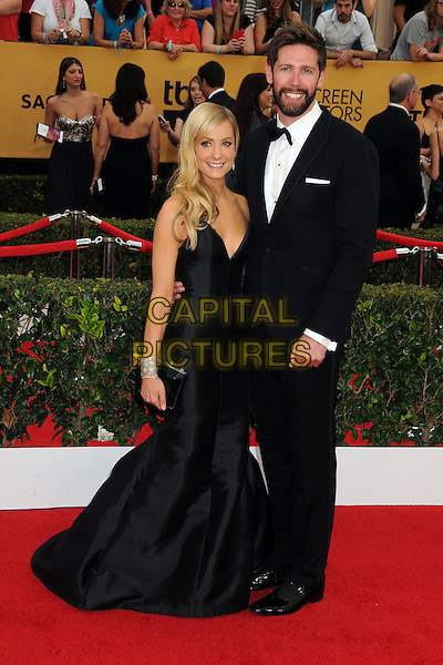 25 January 2015 - Los Angeles, California - Joanne Froggatt, James Cannon. 21st Annual Screen Actors Guild Awards - Arrivals held at The Shrine Auditorium. <br /> CAP/ADM/BP<br /> &copy;BP/ADM/Capital Pictures