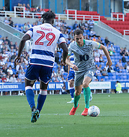 Blackburn Rovers' Stewart Downing (right) under pressure from Reading's Judilson Glomos (left) <br /> <br /> Photographer David Horton/CameraSport<br /> <br /> The EFL Sky Bet Championship - Reading v Blackburn Rovers - Saturday 21st September 2019 - Madejski Stadium - Reading<br /> <br /> World Copyright © 2019 CameraSport. All rights reserved. 43 Linden Ave. Countesthorpe. Leicester. England. LE8 5PG - Tel: +44 (0) 116 277 4147 - admin@camerasport.com - www.camerasport.com