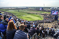 View of the 9th during Friday's Fourballs, at the Ryder Cup, Le Golf National, Îls-de-France, France. 28/09/2018.<br /> Picture David Lloyd / Golffile.ie<br /> <br /> All photo usage must carry mandatory copyright credit (© Golffile | David Lloyd)