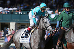 October 06, 2018 : #2 A Raving Beauty (GER) and John Velazquez in the 21st running of The First Lady (Grade 1) $400,000 at Keeneland Race Course on October 06, 2018 in Lexington, KY.  Candice Chavez/ESW/CSM