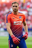 Jan Oblak of Atletico Madrid during the match between Real Madrid v Rayo Vallecano of LaLiga, 2018-2019 season, date 2. Wanda Metropolitano Stadium. Madrid, Spain - 25 August 2018. Mandatory credit: Ana Marcos / PRESSINPHOTO