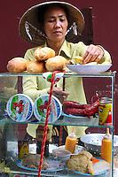 Saigon Station Platform Vendor, Vietnamese Baguette Sandwich