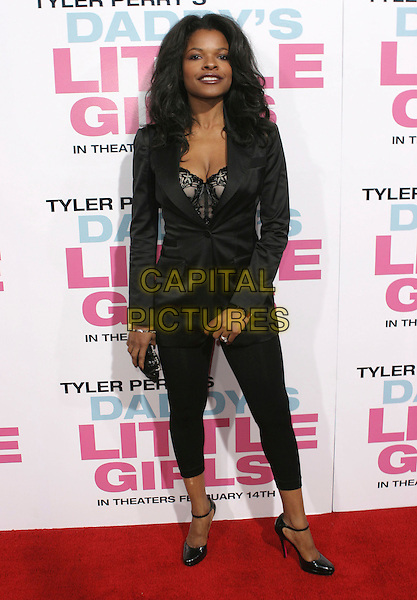 "KEESHA SHARP.""Daddy's Little Girls"" Los Angeles Premiere held at the Cinerama Dome, Hollywood, California, USA..February 7th, 2007.full length black leggings jacket.CAP/ADM/CH.©Charles Harris/AdMedia/Capital Pictures"