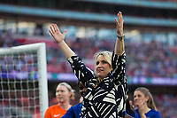 Emma Hayes Manager of Chelsea Ladies celebrates her side's victory <br /> <br /> Photographer Craig Mercer/CameraSport<br /> <br /> The SSE Women's FA Cup Final - Arsenal Women v Chelsea Ladies - Saturday 5th May 2018 - Wembley Stadium - London<br />  <br /> World Copyright &copy; 2018 CameraSport. All rights reserved. 43 Linden Ave. Countesthorpe. Leicester. England. LE8 5PG - Tel: +44 (0) 116 277 4147 - admin@camerasport.com - www.camerasport.com