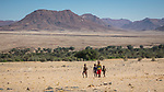 Himba Children Head Home To Their Settlement Near Purros.