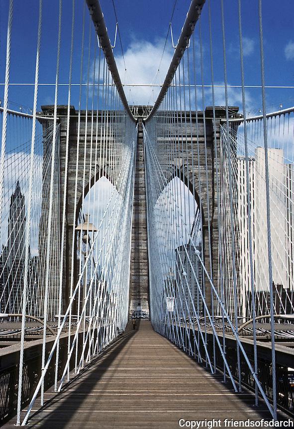 New York: Brooklyn Pier, Brooklyn Bridge. Photo '78.