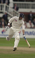 Photo Peter Spurrier.31/08/2002.Cheltenham & Gloucester Trophy Final - Lords.Somerset C.C vs YorkshireC.C..Yorkshire batting;  Matt Elliott.