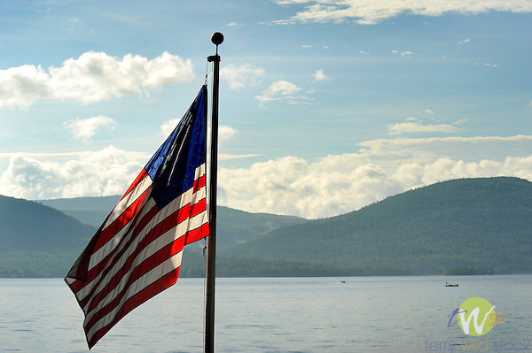 Lake George Ny American Flag
