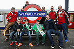 LONDON, ENGLAND - MARCH 29: North Ferriby and Wrexham fans arrive at Wembly ahead of the FA Carlsberg Trophy Final 2015 at Wembley Stadium on March 29, 2054 in London, England. (Photo by David Horn/EAP)