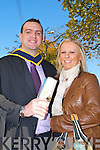 Derek Moynihan Rathmore who Graduated in at the IT Tralee Graduations with his Fiancee Margurite Doyle Headford, Killarney  at the  Brandon hotel, Tralee on Friday.   Copyright Kerry's Eye 2008