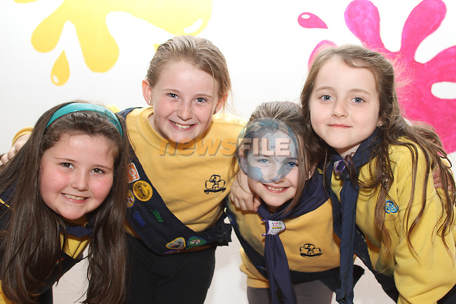 St.Laurences Gate Brownies, Jenny Faulkner, Saoirse McLoughlan, Fiona Callanan and Shauna Martin Bohan enjoying their new building on Scholes Lane....(Photo credit should read Jenny Matthews www.newsfile.ie)....This Picture has been sent you under the conditions enclosed by:.Newsfile Ltd..The Studio,.Millmount Abbey,.Drogheda,.Co Meath..Ireland..Tel: +353(0)41-9871240.Fax: +353(0)41-9871260.GSM: +353(0)86-2500958.email: pictures@newsfile.ie.www.newsfile.ie.