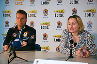 21-01-14,Netherlands, Almere,  Centerpoint, Press-conference Daviscup, Minke Booij announces new deal with KNLTB, Left Daviscup captain Jan Siemerink<br /> Photo: Henk Koster