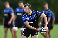 Michael van Vuuren of Bath Rugby looks to pass the ball. Bath Rugby pre-season training on August 14, 2018 at Farleigh House in Bath, England. Photo by: Patrick Khachfe / Onside Images