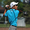 Neil Vyas of Stuyvesant High School tees off on the 1st Hole of Bethpage State Park's Black Course during the New York State Federation Golf Tournament on Sunday, June 7, 2015.<br /> <br /> James Escher