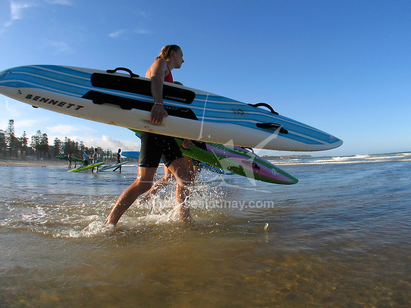 Paddle Board training at Manly Beach.
