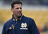 April 20, 2013: Notre Dame Fighting Irish defensive coordinator Bob Diaco  during the Notre Dame Blue-Gold Spring game at Notre Dame Stadium in South Bend, Indiana.  The Defense topped the Offense by a score of 54-43.