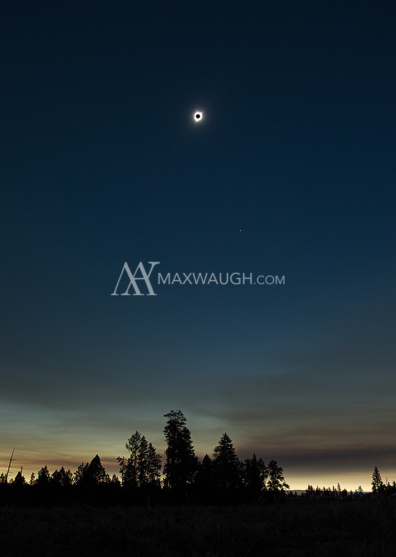 The 2017 solar eclipse, as seen over central Oregon.