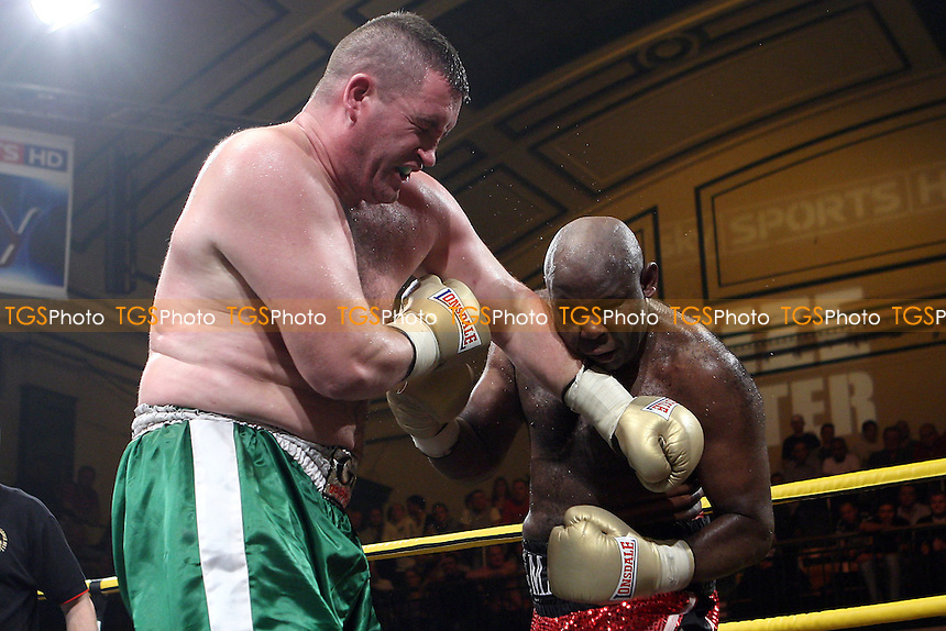 Matt Skelton (red shorts) defeats Kevin McBride - SF1 - Prizefighter 'The Heavyweights IV' Boxing Tournament at York Hall, Bethnal Green, promoted by Matchroom Sports - 09/10/10 - MANDATORY CREDIT: Gavin Ellis/TGSPHOTO - Self billing applies where appropriate - Tel: 0845 094 6026