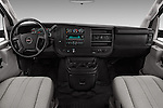 Stock photo of straight dashboard view of 2018 GMC Savana-Cargo Work-Van-2500 4 Door Cargo Van Dashboard
