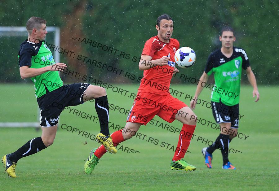Fudbal season 2013-2014<br /> FK Crvena Zvezda pripreme<br /> Prijateljski mec<br /> Crvena Zvezda v Verzej<br /> Djordje Rakic (C)<br /> Brezice, 07.09.2014.<br /> foto: Srdjan Stevanovic/Starsportphoto &copy;
