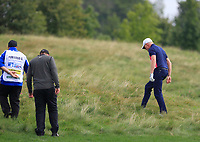 Simon Dyson (ENG) looking for his ball on the 10th during Round 4 of the D+D Real Czech Masters at the Albatross Golf Resort, Prague, Czech Rep. 03/09/2017<br /> Picture: Golffile | Thos Caffrey<br /> <br /> <br /> All photo usage must carry mandatory copyright credit     (&copy; Golffile | Thos Caffrey)