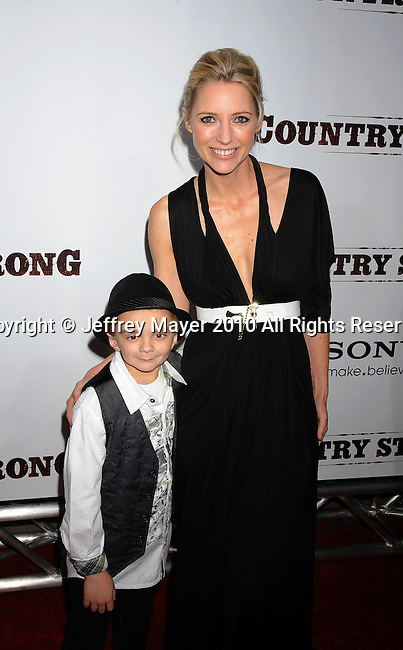 "LOS ANGELES, CA. - December 14: Gabe Sipos and Shana Feste, Director arrive at the Premiere of ""Country Strong"" at the Academy of Motion Picture Arts and Sciences on December 14, 2010 in Beverly Hills, California."