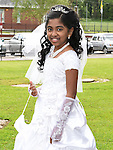 Anuriya Ananb who received First Holy Communion in the Church of the Nativity Ardee. Photo:Colin Bell/pressphotos.ie