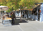 Bookseller booths and stalls, Cuesta de Moyano near Retiro Park, Madrid, Spain