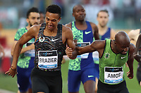 Donavan BRAZIER (USA) wins the race 800m Men and Nijel AMOS (BOT)<br /> Roma 06-06-2019 Stadio Olimpico, <br /> IAAF Diamond League Golden Gala<br /> Meeting Atletica Leggera <br /> Photo Cesare Purini / Insidefoto