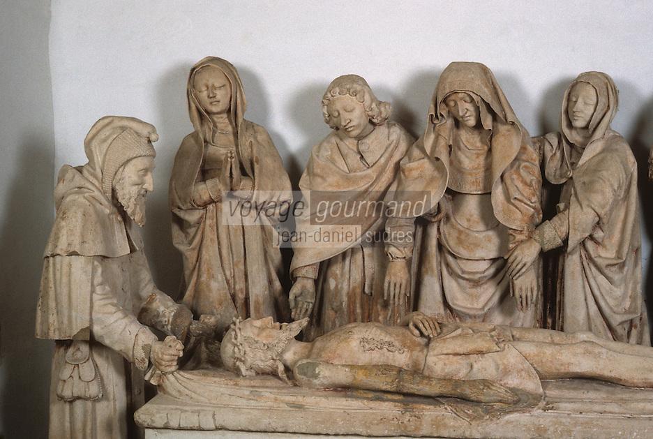 Europe/France/Midi-Pyrénées/46/Lot/Vallée de la Dordogne/Carennac: Mise au tombeau (XVI ème siècle)