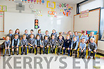 LARGE NUMBER OF FIRST TIME STARTERS AT KENMARE'S ST JOHN'S:  Making up a second class of the 52 junior infants starting in Kenmare's St John's NS are front l-r Leah Brazier, Micheala O'Sullivan, Ben Leonard, Nicola Mostowiak, Michaela Palmer, Aaron Sheehan, Alana Noonan-Vitting, Daniel McCarthy, John Hickson, Alice O'Connor, Filip Wrobel and Michael Munnelly.  Back row: Caragh Lynch, Sadbh O'Mahony, Darragh O'Shea, Cillian Flynn, Sigrid Zoutewelle, Tomásín Orpen, Jemma O'Sullivan, Sandra Popek, Fiona Thoma, Chloe O'Shea, Scott Smith and Holly Dale.