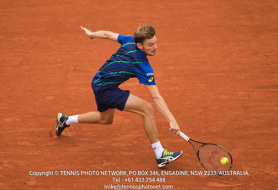 DAVID GOFFIN (BEL)<br /> <br /> TENNIS - FRENCH OPEN - ROLAND GARROS - ATP - WTA - ITF - GRAND SLAM - CHAMPIONSHIPS - PARIS - FRANCE - 2016  <br /> <br /> <br /> <br /> &copy; TENNIS PHOTO NETWORK