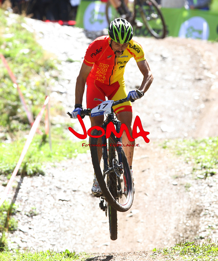 05.09.2015 La Massana Andorra. 201 UCI Mountain Bike World Champions.Picture show Jose Antonio Hermida (ESP) in action during Men ELite Cross-country Olympic World Champions
