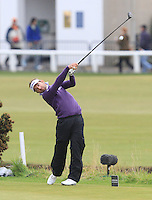 Jbe Kruger (RSA) on the 2nd tee during Round 4 of the 2015 Alfred Dunhill Links Championship at the Old Course in St. Andrews in Scotland on 4/10/15.<br /> Picture: Thos Caffrey | Golffile