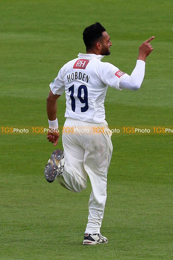 Ajmal Shazad of Sussex celebrates taking the wicket of Jesse Ryder during Sussex CCC vs Essex CCC, Specsavers County Championship Division 2 Cricket at The 1st Central County Ground on 18th April 2016