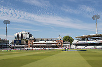 A glorious morning at the home of cricket, Lords, before the fixture between Pakistan vs Bangladesh, ICC World Cup Cricket at Lord's Cricket Ground on 5th July 2019
