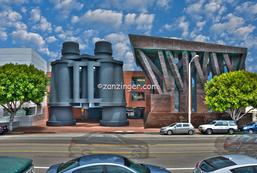 Venice, Google, Building, four-story, pair of, binoculars, Frank Gehry, design,