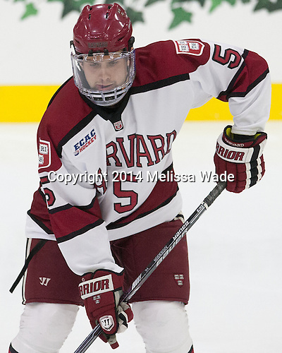 Clay Anderson (Harvard - 5) - The Harvard University Crimson tied the visiting Dartmouth College Big Green 3-3 in both team's first game of the season on Saturday, November 1, 2014, at Bright-Landry Hockey Center in Cambridge, Massachusetts.