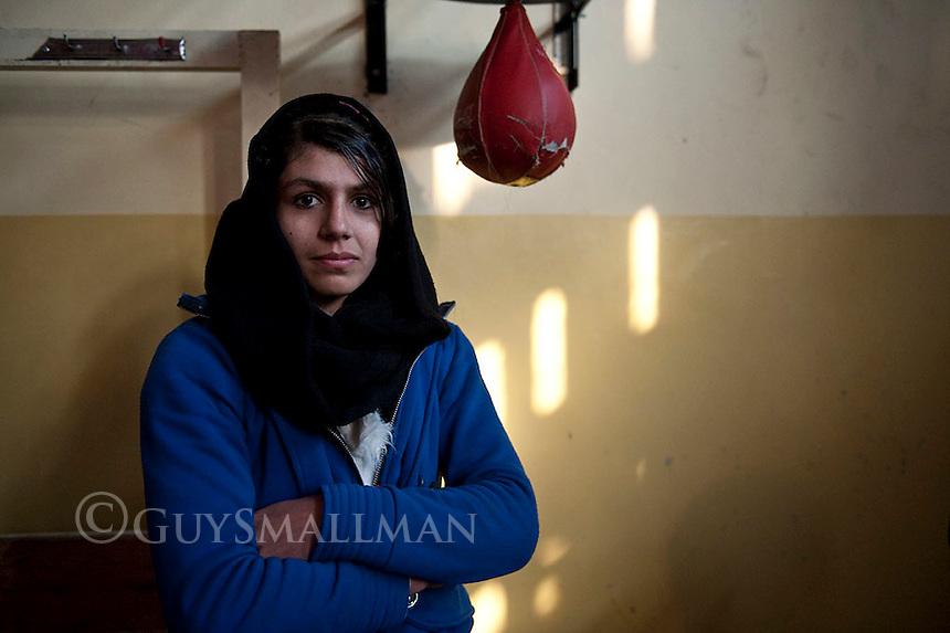 Afghan female boxing champion Shabnam Rahimi. 10-1-12